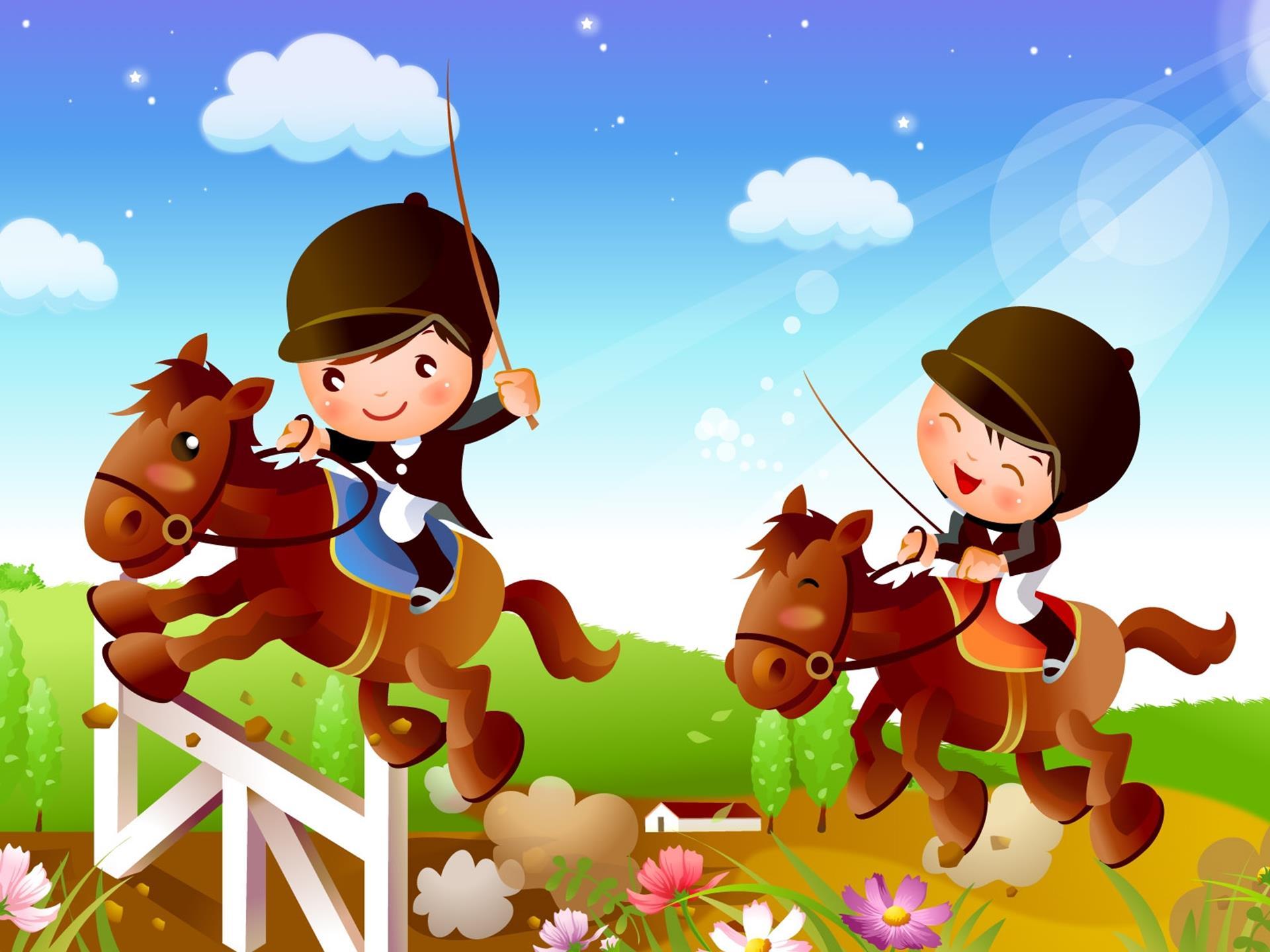 Картинка мальчика на лошади